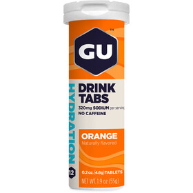 GU Energy Hydration Sportdrank Tabs 12 Pieces, Orange